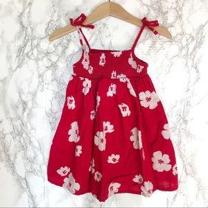 Old Navy Toddler Girl Red Flower Dress - Size 2T